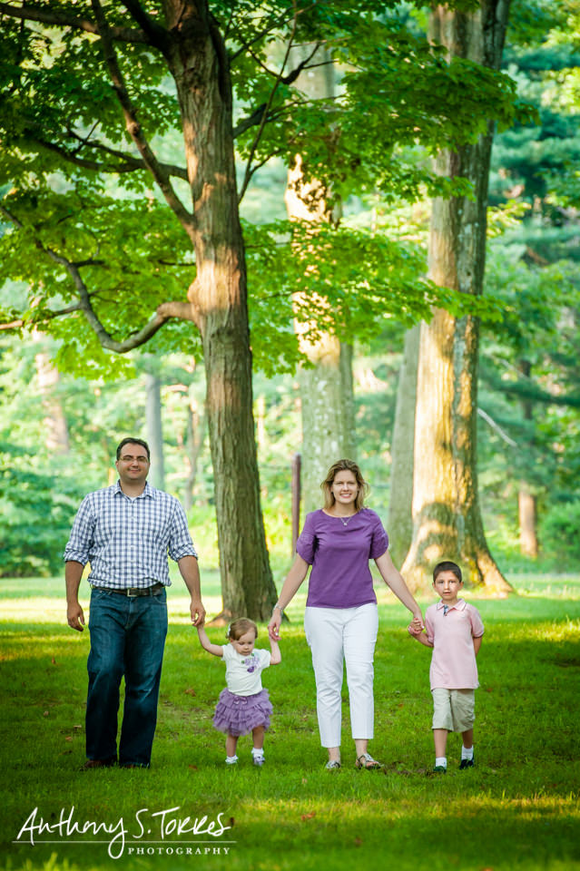 Summer Family Photos - Brookdale Park - Family Walking