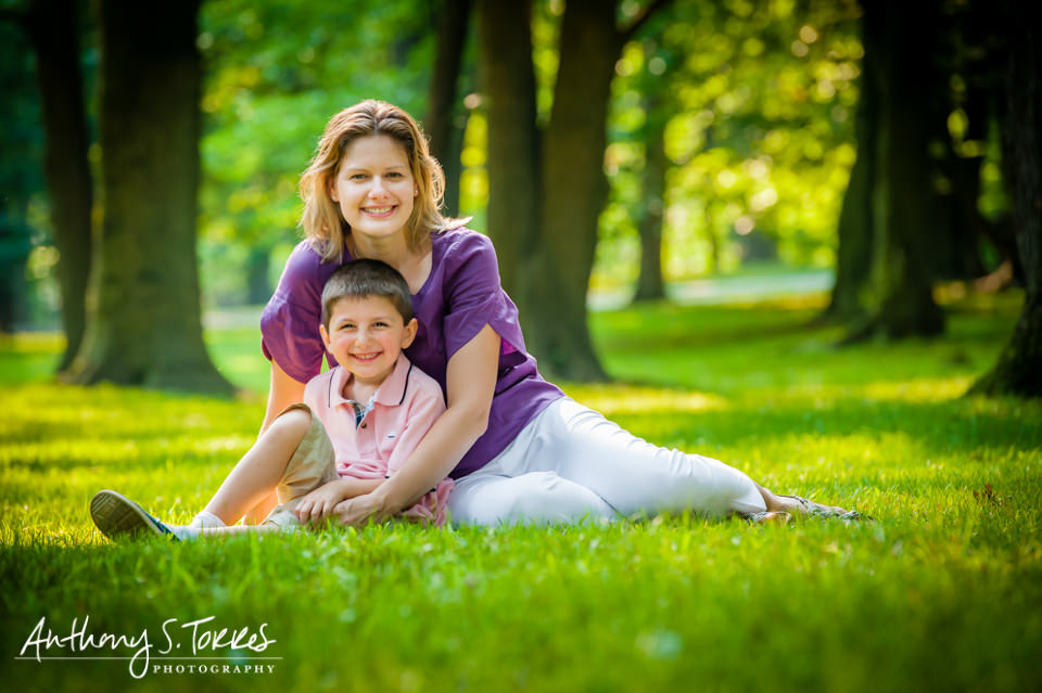 Summer Family Photos - Brookdale Park - Mom and Son Smiling