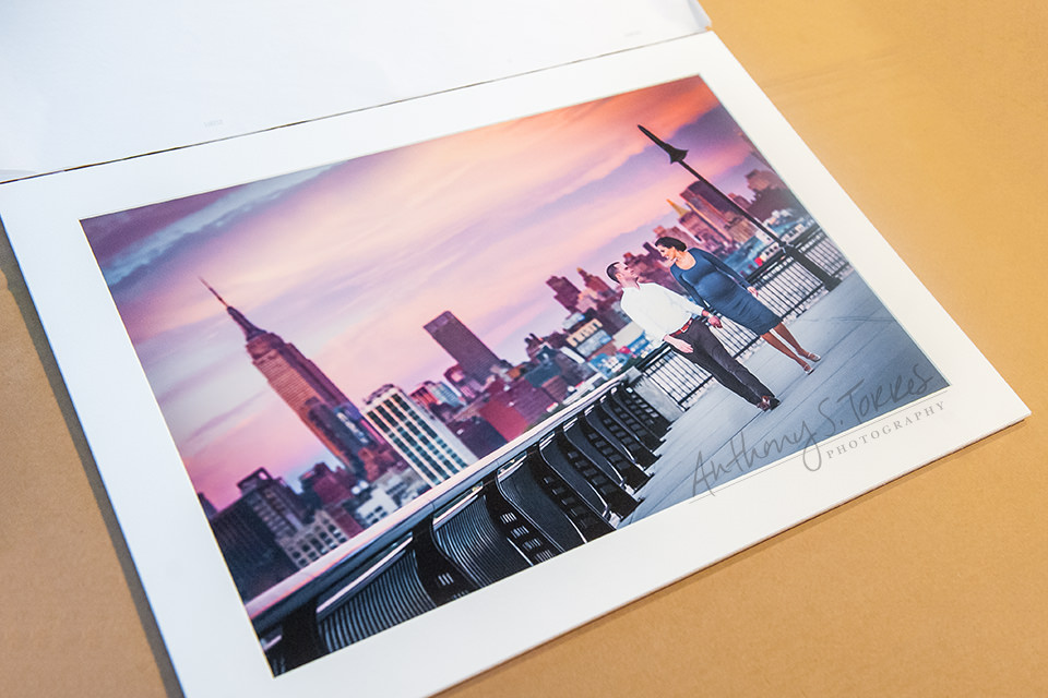 Fine Art Paper - Matted Portrait - Hoboken Skyline Maternity Session