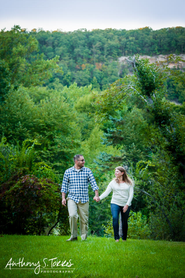 Fall Engagement Photos - Newfoundland NJ - A View of the Hillside