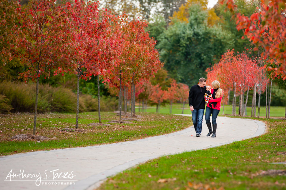 Outdoor Fall Family Photos - Westwood NJ - Family Walking