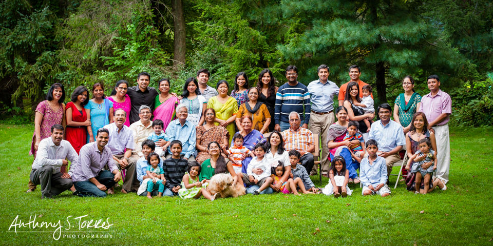 Family Reunion Photos - Scotch Plains NJ - 45 People and a Dog