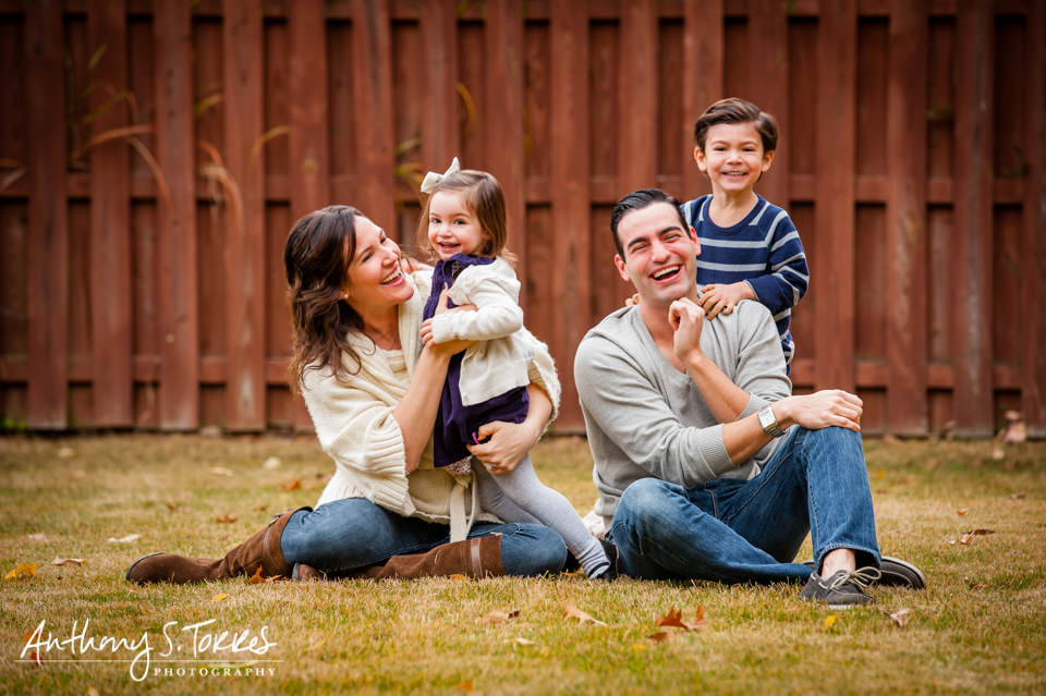 Outdoor Family Photos - Westfield NJ - Full Family 2 Kids